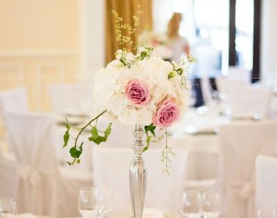 Hortenzije, ruže i gladiole